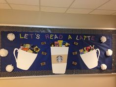 Oh it's like this bulletin board was made with me in mind! I think the library bulletin board is in need of a re-do!