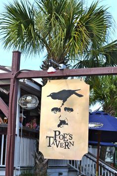 Charleston Charm: Sullivan's Island - Poe's Tavern I want to go here! A place that pays homage to Edgar Allen Poe and serves a good burger? South Carolina Vacation, Charleston South Carolina, Charleston Sc, Weekend Trips, Vacation Trips, Vacation Spots, Sullivans Island Sc, Isle Of Palms, Folly Beach