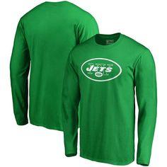 New York Jets NFL Pro Line by Fanatics Branded St. Patrick's Day White Logo Long Sleeve T-Shirt - Kelly Green