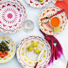 Bright Shapes Melamine Plates by West Elm. Perfect for picnics and summertime outdoor dining