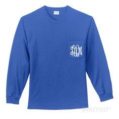 Monogrammed Long Sleeve T-Shirt   Marleylilly