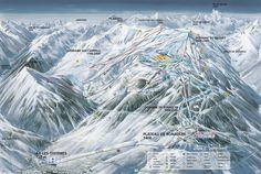 Plan des pistes Ax 3 Domaines en #ValléesAx http://www.vallees-ax.com/