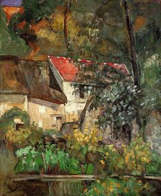 Paul Cézanne - House of father Lacroix, 1873 -  National Gallery of Art, Washington, DC.