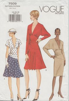 Vogue 7509 / Out Of Print Sewing Pattern / OOP by studioGpatterns