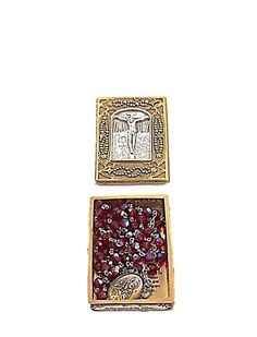 Vintage Red Crystal Rosary with Gold Prayer Box | Vatican Library Collection Catholic Rosary Beads Mary and Jesus #EtsyCIJ 2017