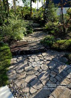 アプローチ石畳 Love Home, Ideal Home, Small Natural Garden Ideas, Stone Masonry, Garden Items, Backyard, Patio, Landscaping With Rocks, Japanese House