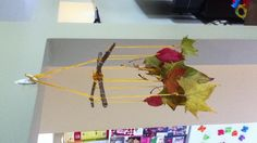 Fall leaf mobile, fun activity for all you collect on your nature walk with your kids!