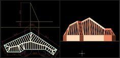 لوحة 10: سقف مائل بطيات مستوية بميلان ثابت/ انشلئية