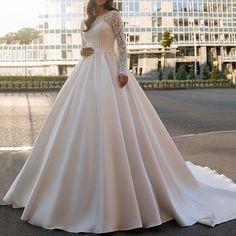 Cathedral Wedding Dress, Buy Wedding Dress, Wedding Dress Sleeves, Best Wedding Dresses, Wedding Gowns, Bridal Nightgown, Long Sleeve Wedding, Bride Look, Ball Gowns