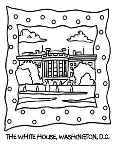 Houses to Color and Print for adults about white house coloring