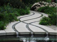 Crossing Rills - Designed by Thomas Hoblyn for the 2011 RHS Chelsea Flower Show.Read a blogger's review of the entire garden here:http://www.hegartywebberpartnership.com/the-homebase-cornish-memories-garden/