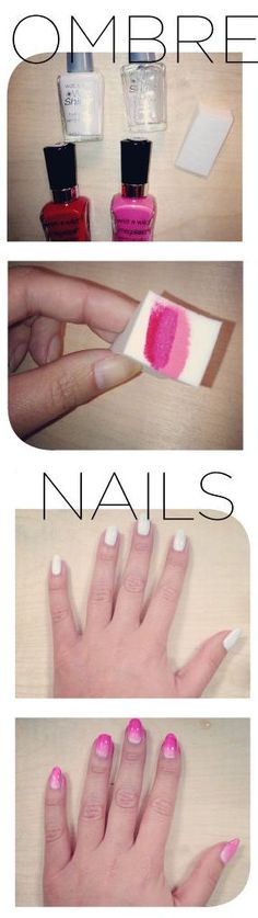 DIY - How to Get Ombre Nails {Step by Step Video Also on Site}