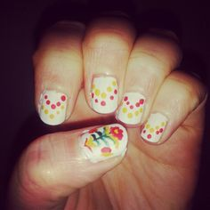 Folk art inspired nails