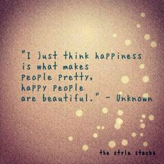 Happy people are beautiful!