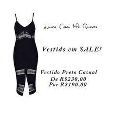 Vestido em SALE!  Vestido Preto Casual- ❤ Página: Vestidos Tam: P e M ✅ R$ 190,00  Compre pela loja virtual ou whats www.loucacomomequeres.com.br 61 - 8264-6852  #uselouca #loucacomomequeres #LCMQ #compreagora #vestidoemsale #inverno #vestidoPretoCasual #casual  #moda #fashion  #fashiondesigner #brasilia #brasiliandesigner