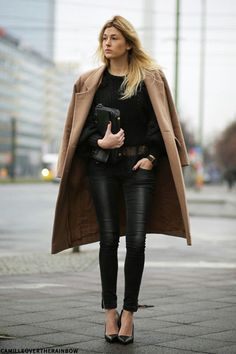 Style inspiration: leather black and camel
