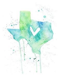 Texas Love by poppyandpinecone on Etsy, $20.00