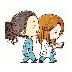 More Grey's Anatomy fan-art trash! Here is Chibi Meredith and Chibi Cristina! Grey's Anatomy Chibi Meredith and Cristina Cristina Yang, Meredith E Cristina, Meredith And Christina, Chibi, Fanart, Grey Anatomy Quotes, Grays Anatomy, Dark And Twisty, Youre My Person