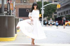 New York Fashion Week: Una gonna lunga bianca