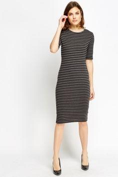Cheap Dresses for 5 £ Affordable Dresses, Cheap Dresses, Dresses For Work, Striped Midi Dress, Latest Dress, Black Stripes, Dress Outfits, Fashion Online, Shop Now
