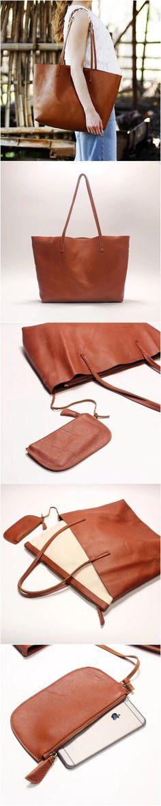 Leather Women Tote Bag / Shopping Bag / Shoulder Bag