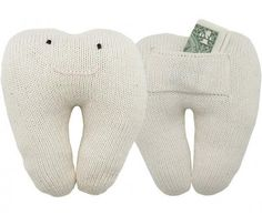 Tooth pillows...with a pocket to put your dollars