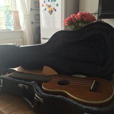 My daughter is teaching me to play my Ukulele.