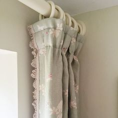 A classic style with a contemporary edge Canopy Bed Curtains, Curtains Uk, Cottage Curtains, French Curtains, Cottage Door, Country Curtains, Curtains With Blinds, Shower Curtains, Drapery