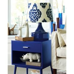 Threshold™ Blue One Drawer Accent Table - Perfect addition to your living room! Right amount of color to make your space complete!