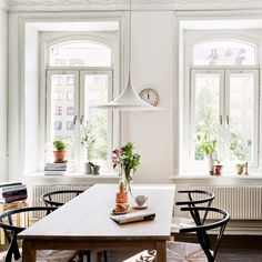 Semi Lamp By Claus Bonderup And Torsten Thorup From Gubi And Wishbone  Chairs By Hans J. Wegner From Carl Hansen U0026 Søn