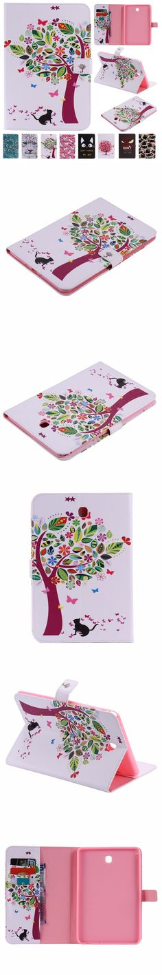 New Case for Samsung Tab A 8.0 T355 T350 Fashion Print Flip PU Leather Stand Smart Cover for Samsung Galaxy Tab A 8.0 SM-T350