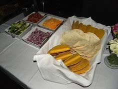 taco bar ideas | Katie had beautiful calla lilies from Winston's delivered to the ...
