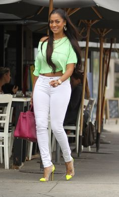 Get the Look for Less: Lala Anthony in Rocking Brights in West Hollywood | Talking Pretty