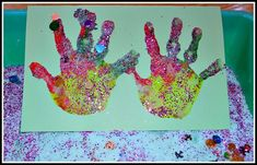 rainbow hand prints with salt glitter as christmas cards Homemade Christmas Cards, Christmas Crafts For Kids, Christmas Activities, Christmas Projects, Homemade Cards, Christmas Fun, Preschool Christmas, Holiday Fun, Preschool Art Activities