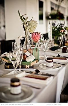 Antique inspired table decor