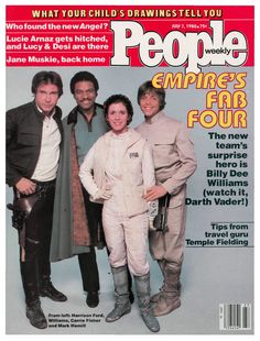 Han Solo, Lando Calrissian, Carrie Fisher and Mark Hamill from Star Wars The Empire Strikes Back on the cover of People Magazine 1980 People Magazine, Star Wars Episode 2, Star Wars History, Billy Dee Williams, Mark Hamill, My Generation, The Empire Strikes Back, Harrison Ford, Carrie Fisher