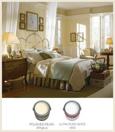 This Soft Yellow Bedroom Is The Perfect Place To Retire After Any Day Behr Paint