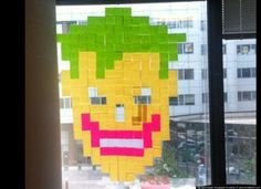 Joker Post It Note Art
