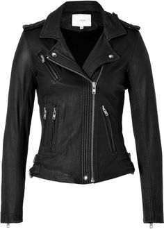 Leather Jacket in Black - Lyst