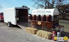 New Listing: https://www.usedvending.com/i/Old-Fashioned-Soda-Wagon-with-Pace-Enclosed-Trailer-for-Sale-in-Oklahoma-/OK-P-245R Old Fashioned Soda Wagon with Pace Enclosed Trailer for Sale in Oklahoma!!!