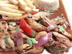 Pollo saltado, or Peruvian-style stir fried chicken