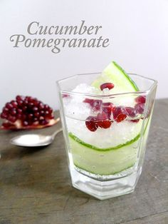 Cucumber Pomegranate Cocktail