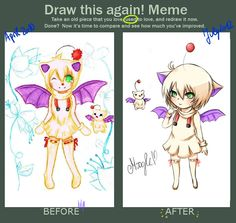 Draw this again meme - Moogle Gijinka by Kida-kun.deviantart.com