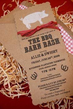 BBQ Barn Bash Wedding Shower by sweetmagsdesign on Etsy