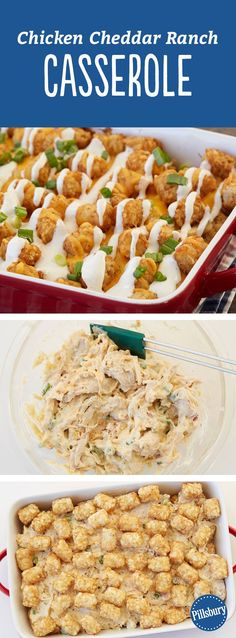 Chicken Cheddar Ranch Casserole - A traditional casserole gets a serious upgrade with chicken, ranch dressing and plenty of Cheddar cheese. It's oven-ready in just 15 minutes, making it the perfect dinner for busy weeknights.