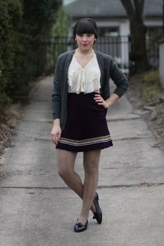 Veronika - I love the blouse and skirt combo.
