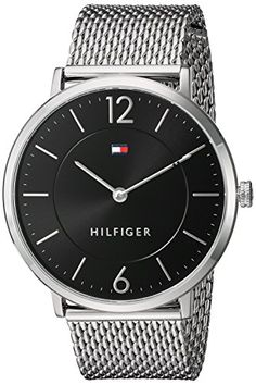 Tommy Hilfiger Mens Sophisticated Sport Quartz Stainless Steel Automatic Watch ColorSilverToned Model 1710355 >>> Want to know more, click on the image. (Note:Amazon affiliate link)