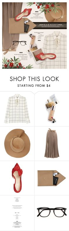 """""""Valentino outfit"""" by kseniz13 ❤ liked on Polyvore featuring Valentino, Memo Paris, Eugenia Kim, Impossible Project, Nine West, STOW, StyleNanda, denim and Spring2017"""
