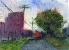 Sketch of the First Ward, Buffalo, by Carol L. Douglas. Oil on paper.