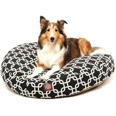 Majestic Pet Products Links Round Pet Bed, Black